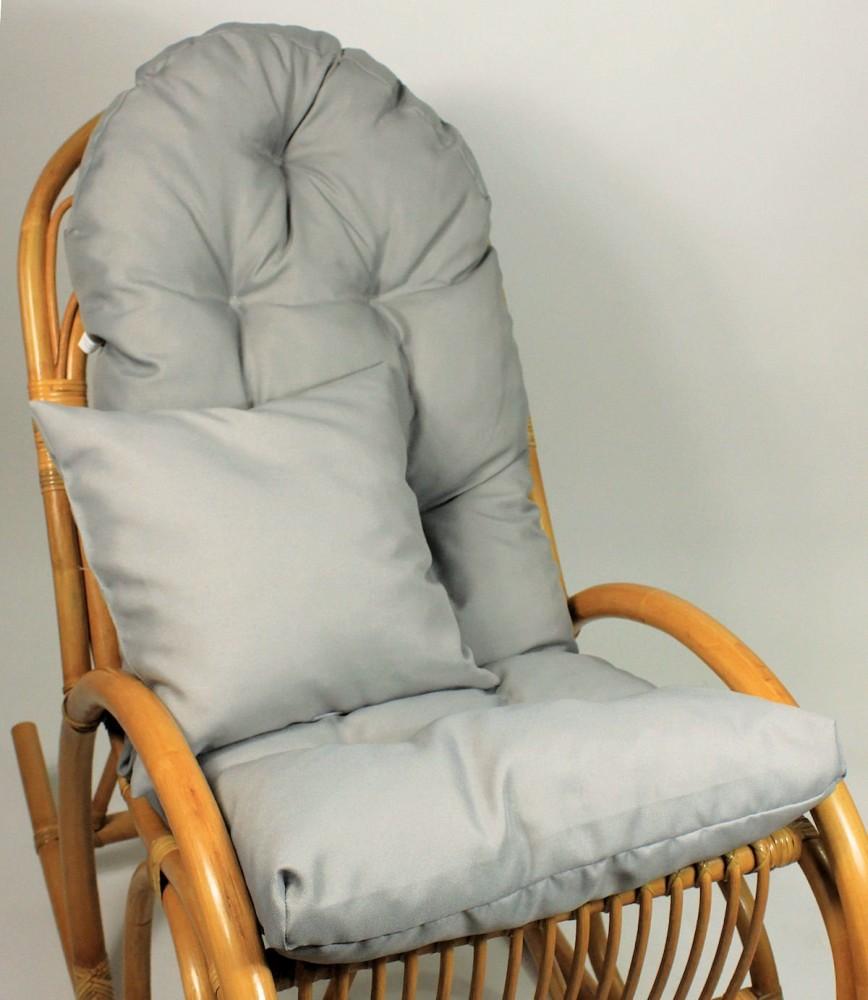 Auflage polster f r schaukelstuhl for Schaukelstuhl auflage grau