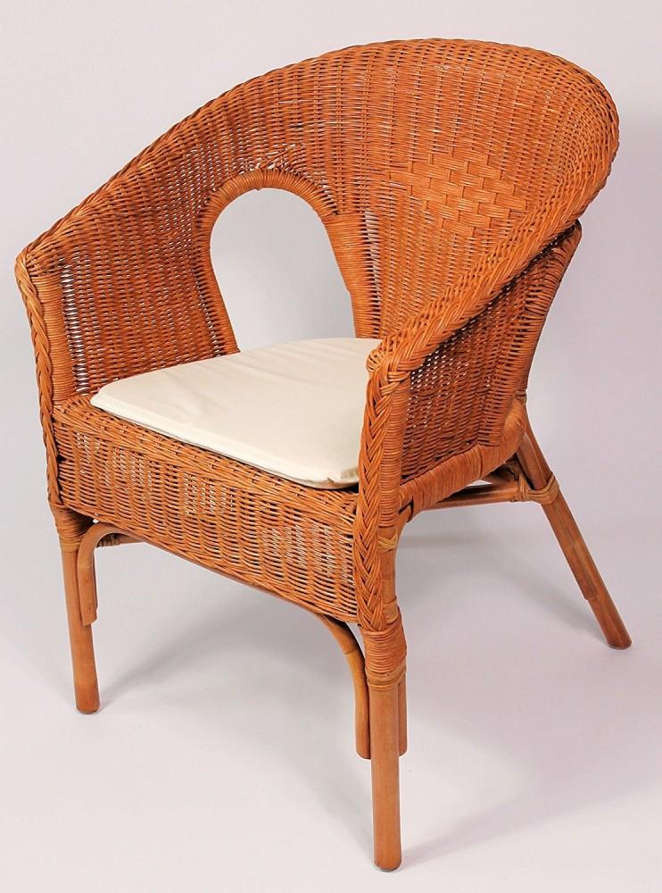 rattansessel rattanstuhl fabion fb cognac inkl sitzkissen. Black Bedroom Furniture Sets. Home Design Ideas