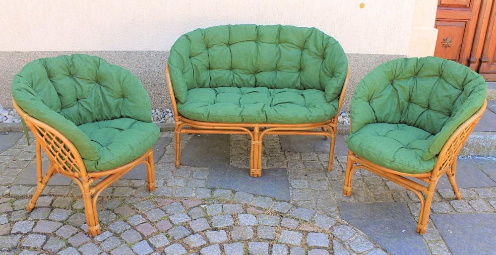 ersatzpolster polster kissen f r rattangarnitur rattangruppe bahama. Black Bedroom Furniture Sets. Home Design Ideas
