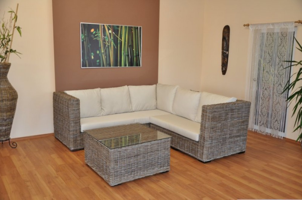 rattangarnitur ecksofa koobo gray. Black Bedroom Furniture Sets. Home Design Ideas
