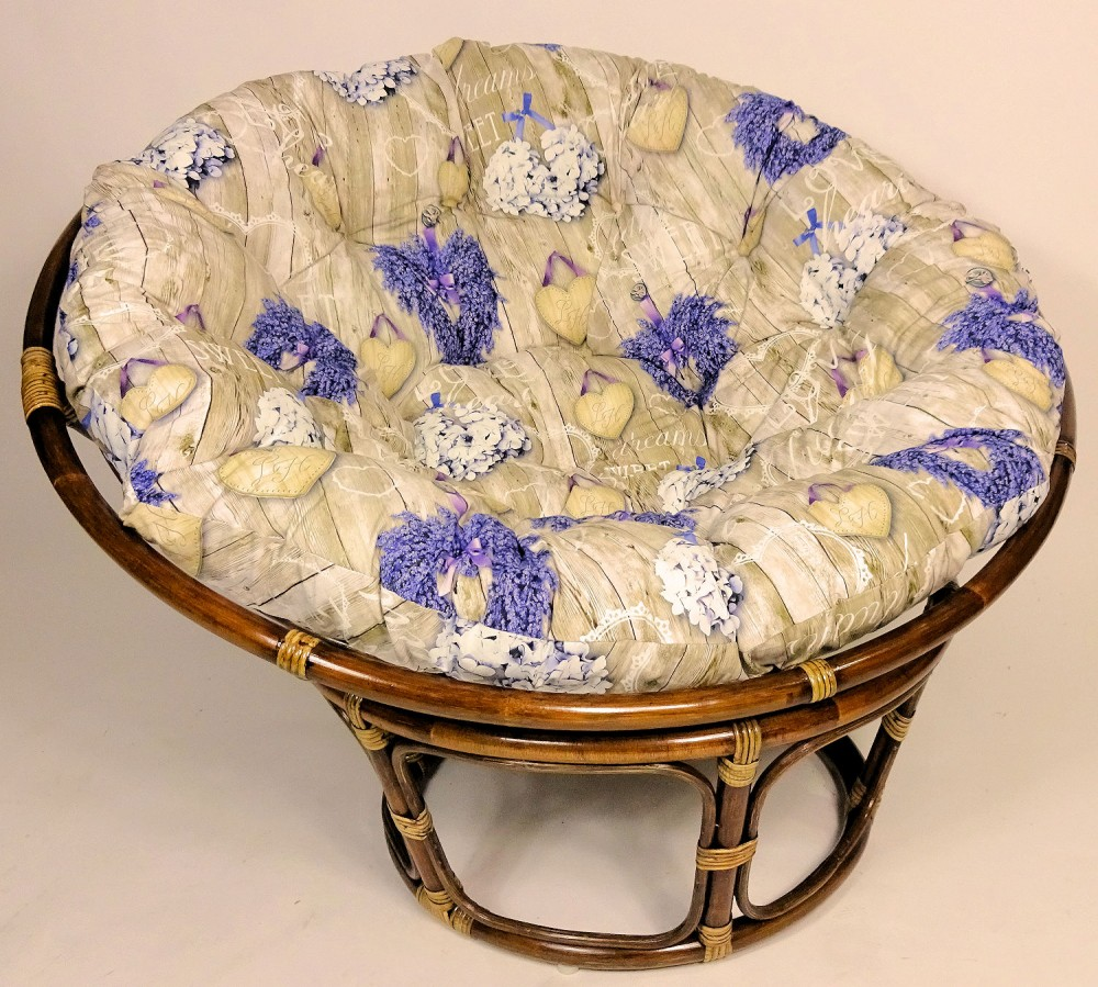 rattan papasan sessel papasansessel d 110 cm fb darkbrown inkl hochwertigen. Black Bedroom Furniture Sets. Home Design Ideas