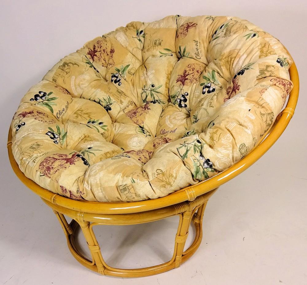 rattan papasan sessel papasansessel d 110 cm fb honig inkl hochwertigen. Black Bedroom Furniture Sets. Home Design Ideas