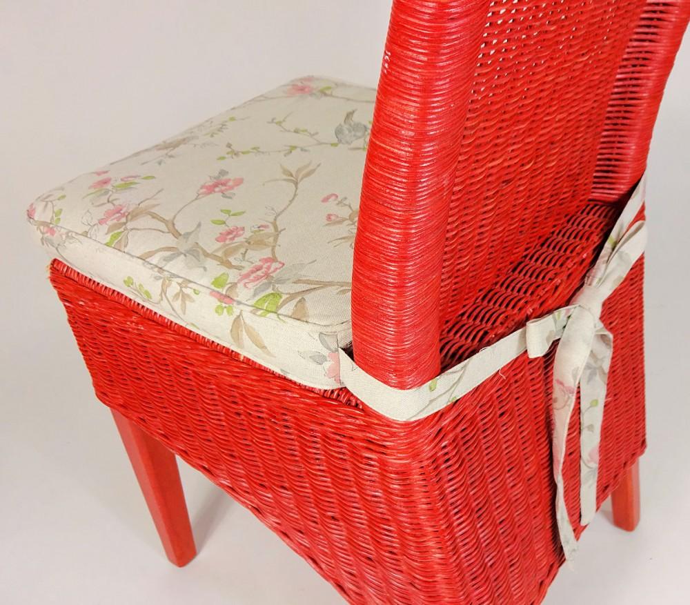 stuhlkissen sitzkissen bonia plus mit schleife 42 x 42 cm fb mirha leinen bird. Black Bedroom Furniture Sets. Home Design Ideas