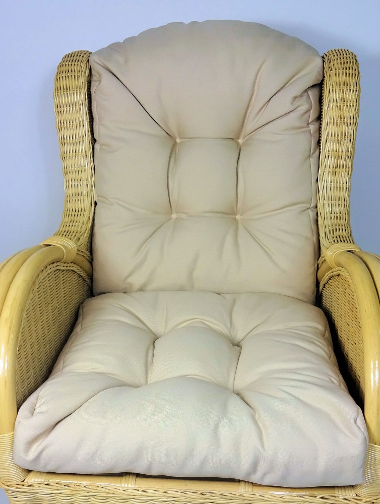 polster kissen f r rattan ohrensessel fb beige. Black Bedroom Furniture Sets. Home Design Ideas