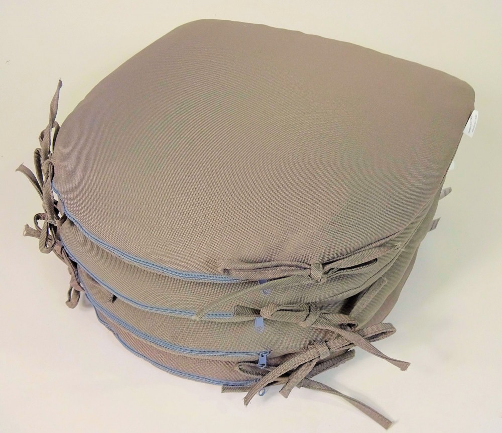 4 x stuhlkissen sitzkissen altea 38x40x4 fb grau. Black Bedroom Furniture Sets. Home Design Ideas