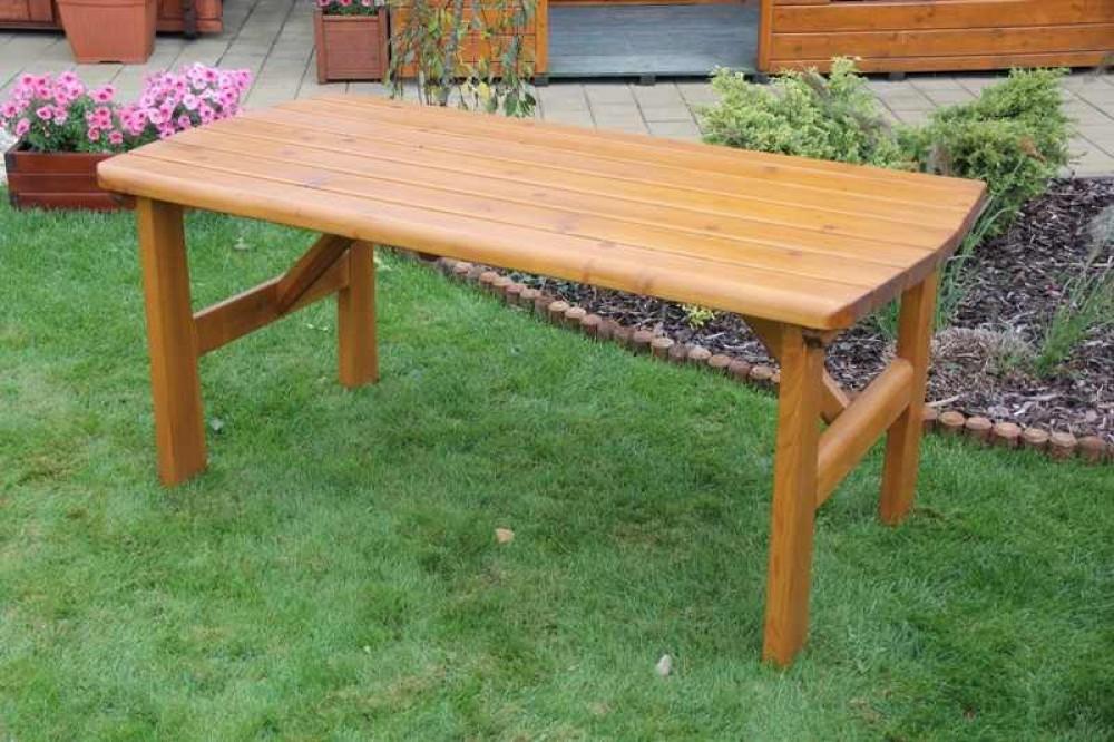 massivholz gartentisch findland kiefer unbehandelt gr 160 x 81 cm h 72 cm. Black Bedroom Furniture Sets. Home Design Ideas