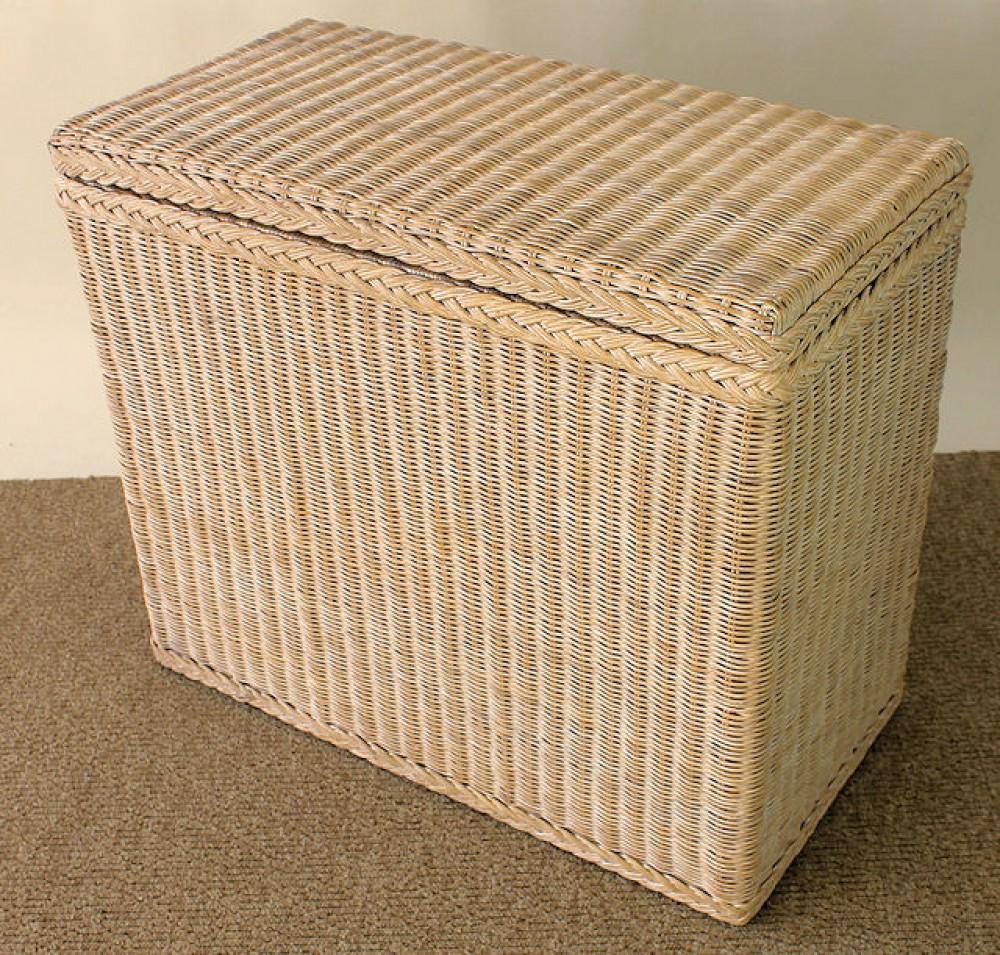 rattan w schesortierer 3 f cher toast white. Black Bedroom Furniture Sets. Home Design Ideas