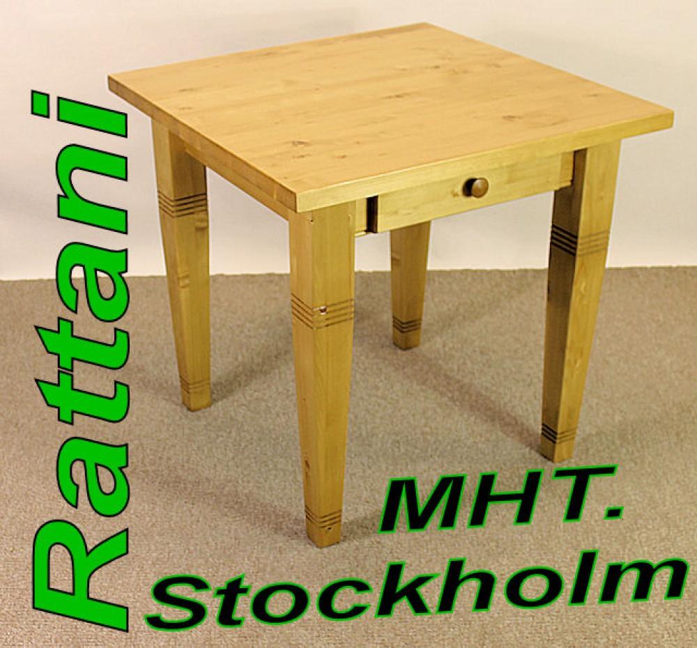 massivholztisch esstisch stockholm 80 x 80 cm. Black Bedroom Furniture Sets. Home Design Ideas