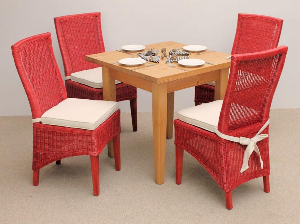 rattan esstischgruppe ester massivholztisch. Black Bedroom Furniture Sets. Home Design Ideas