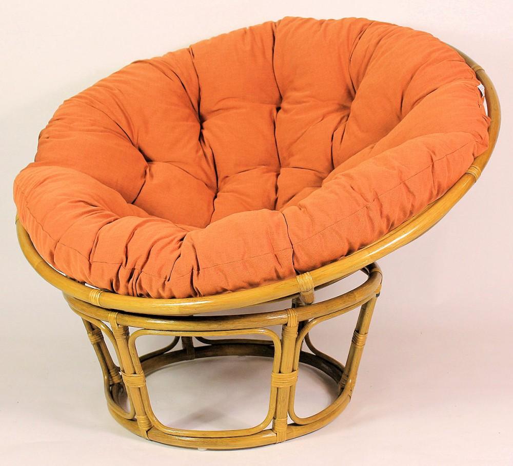 rattan papasansessel inkl polster gr d 110 cm fb honig polster terracotta. Black Bedroom Furniture Sets. Home Design Ideas