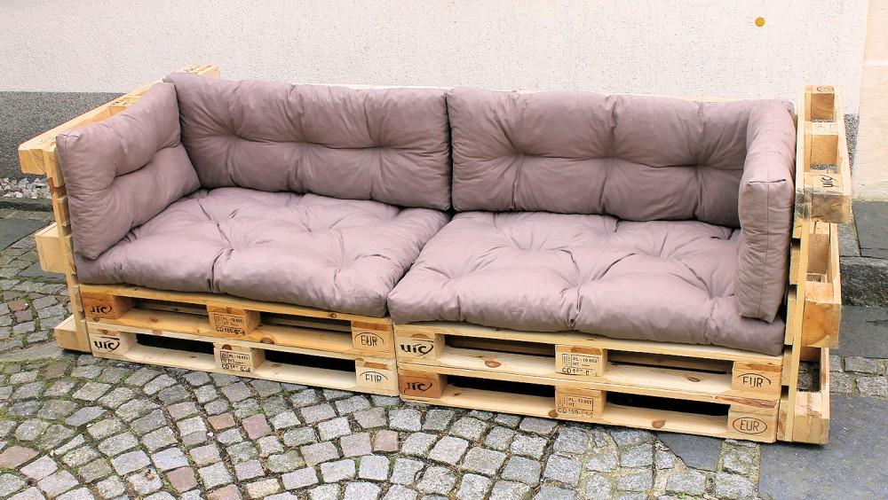 polster f r palettensofa europalette palettenpolster fb grau. Black Bedroom Furniture Sets. Home Design Ideas