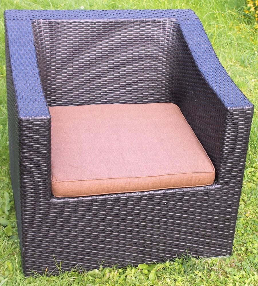 sitzpolstzer sitzkissen f r pe rattansessel. Black Bedroom Furniture Sets. Home Design Ideas