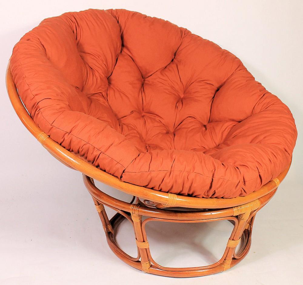 rattan papasan sessel inkl hochwertigen polster d 115 cm fb cognac pad. Black Bedroom Furniture Sets. Home Design Ideas