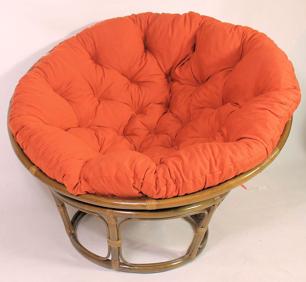 rattan papasan sessel inkl hochwertigen polster d 115 cm fb darkbrown pad. Black Bedroom Furniture Sets. Home Design Ideas