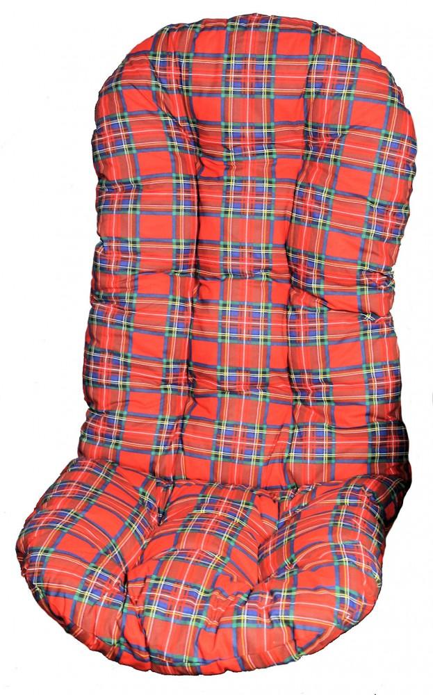 polster f r schaukelstuhl ersatzpolster schaukelstuhl drehsessel l 130 cm rot. Black Bedroom Furniture Sets. Home Design Ideas
