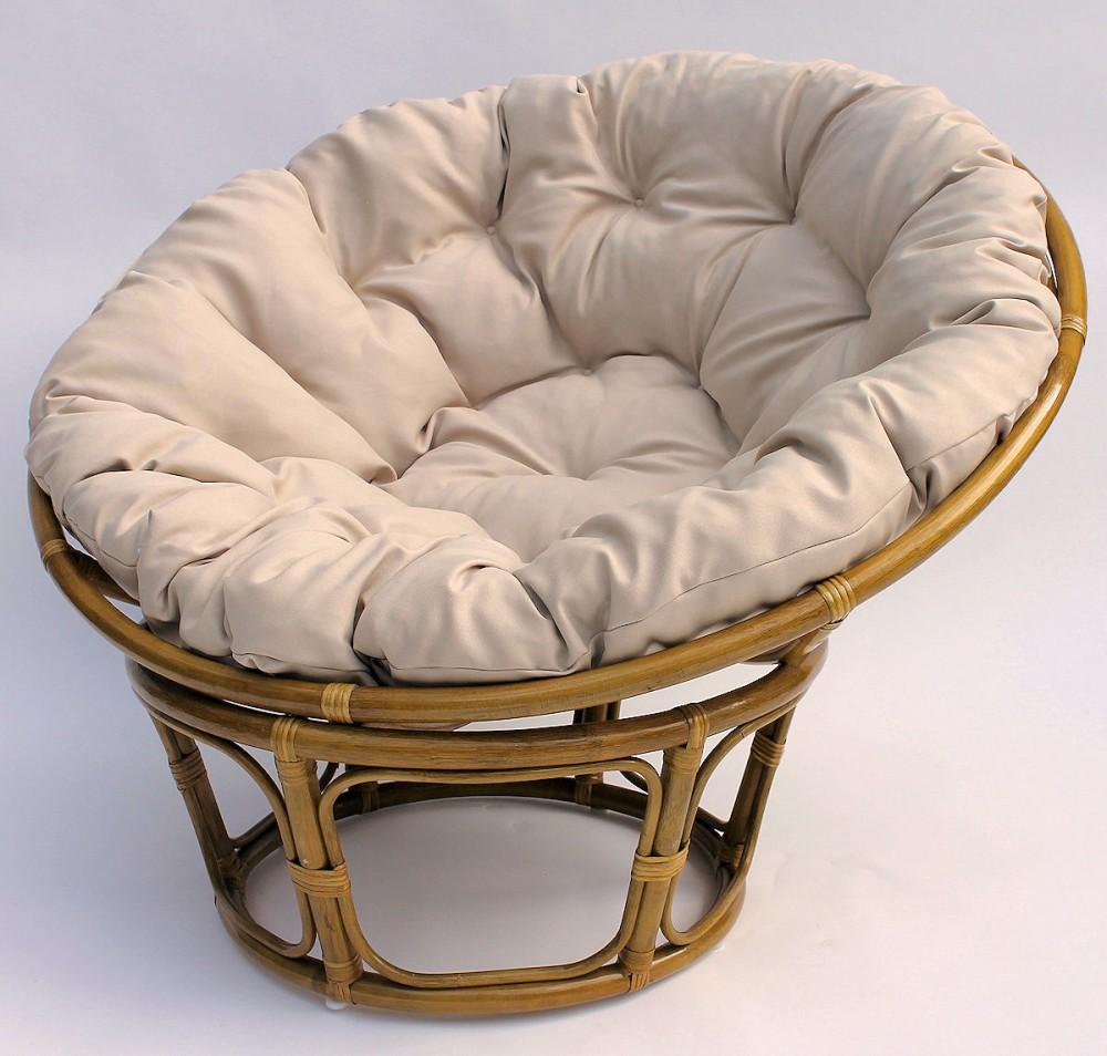 rattan papasan sessel inkl hochwertigen loneta polster durchmesser 110 cm fb. Black Bedroom Furniture Sets. Home Design Ideas