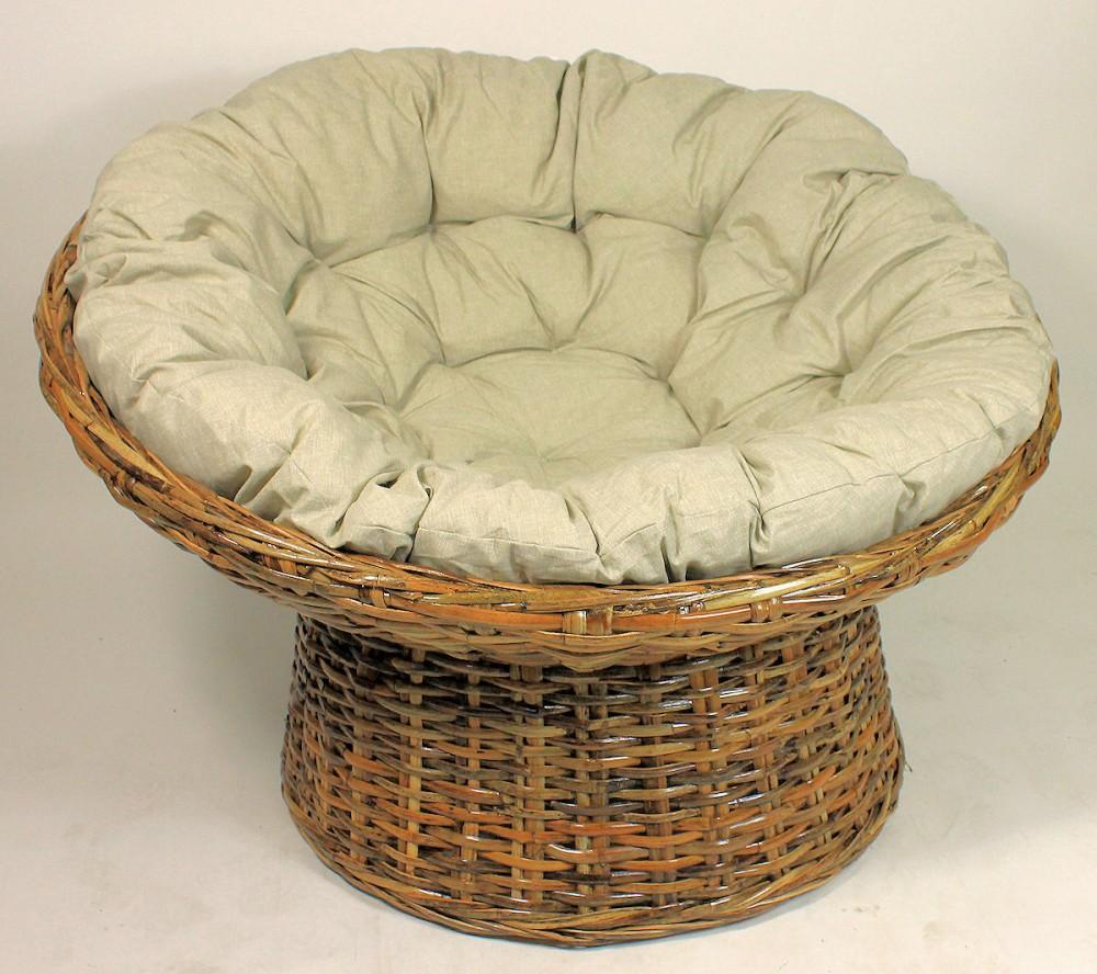xxl rattansessel rattan papasan sessel inkl hochwertigen loneta polster. Black Bedroom Furniture Sets. Home Design Ideas