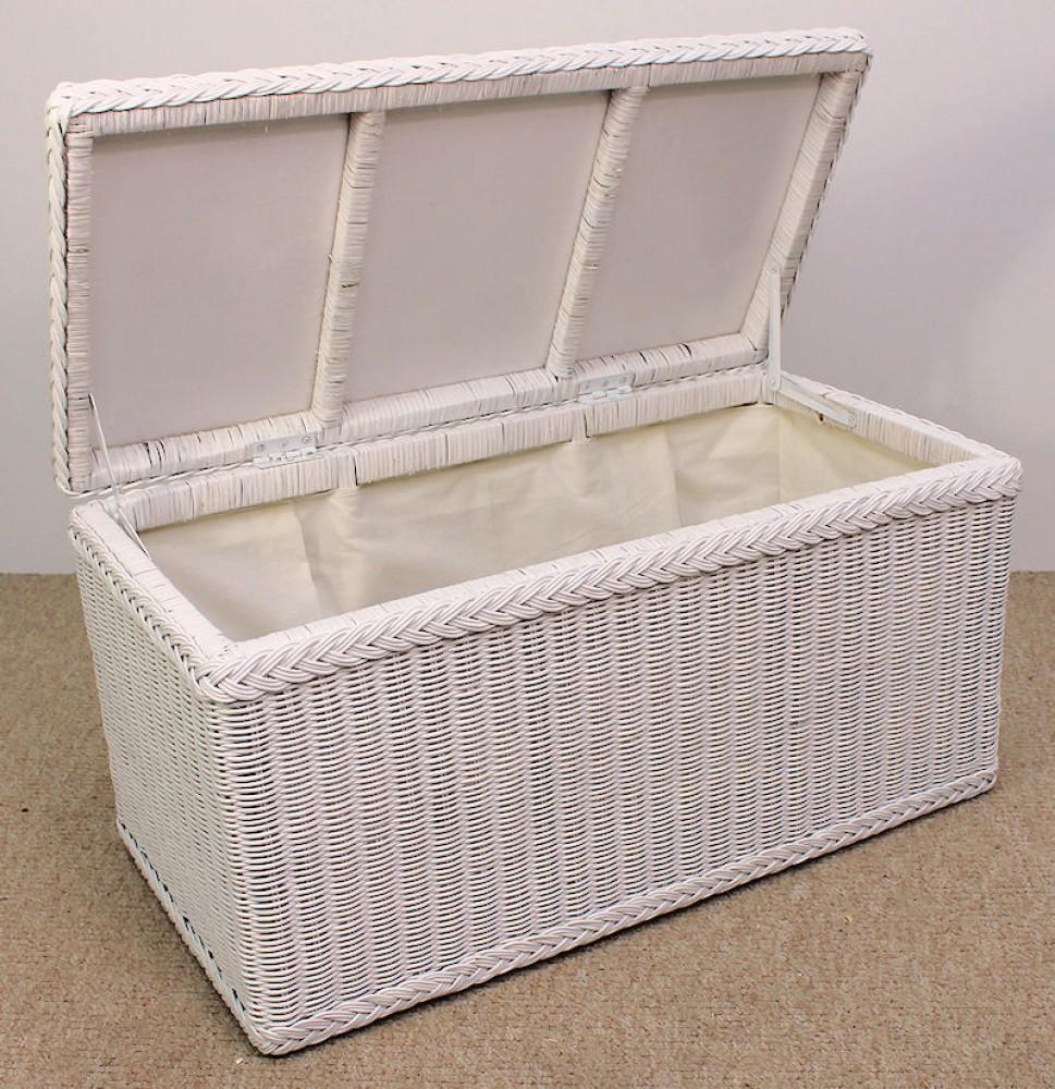 rattan w schetruhe w schekorb fb wei gr 82 x 42 x 42 cm. Black Bedroom Furniture Sets. Home Design Ideas