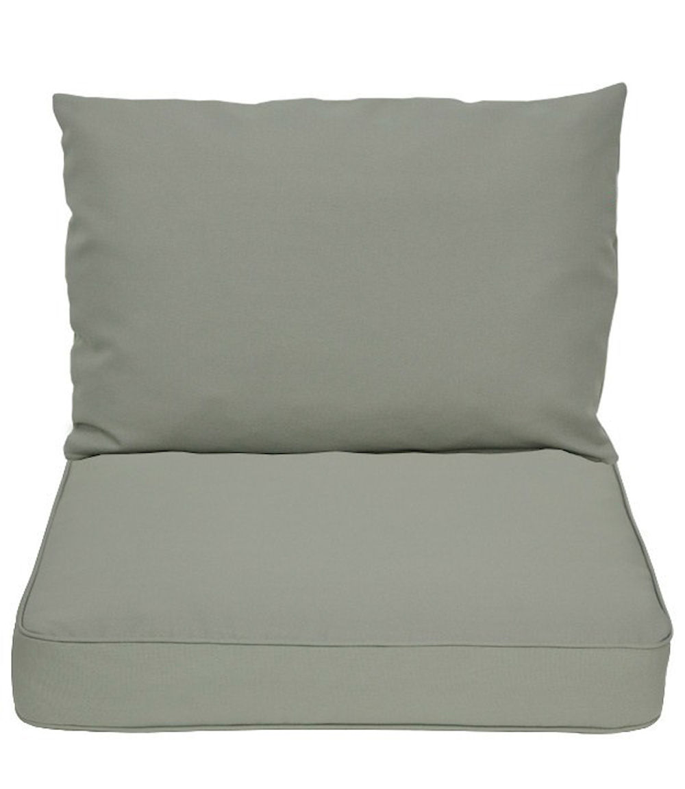 kissen polster f r pe rattanm bel set sitz r cken grau. Black Bedroom Furniture Sets. Home Design Ideas