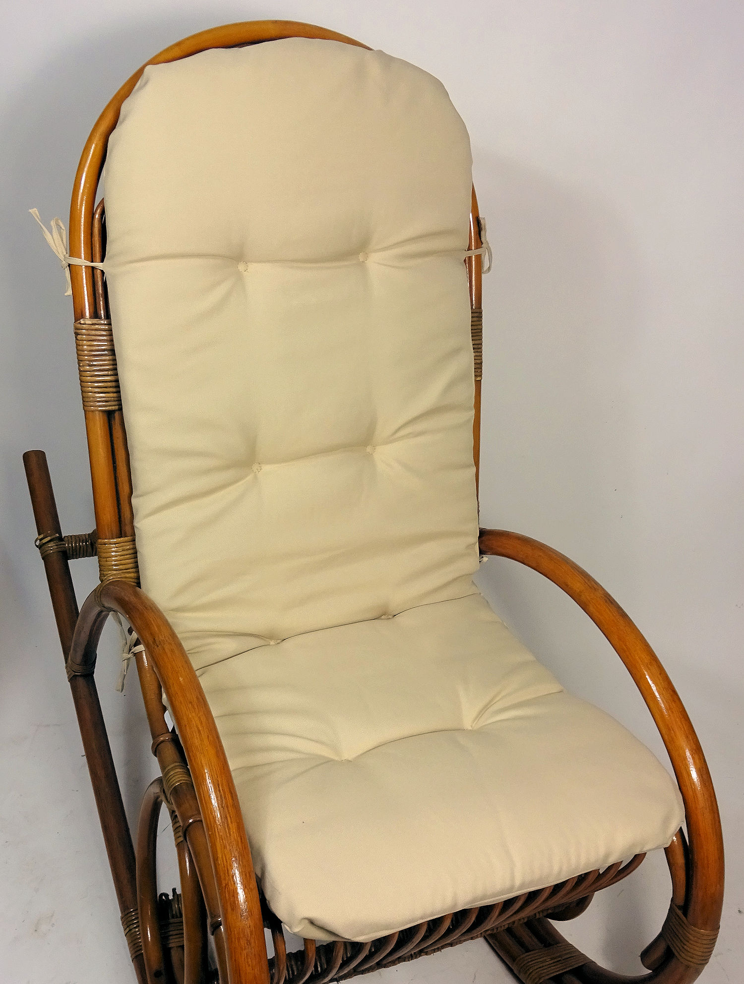 polster f r schaukelstuhl ersatzpolster rattan schaukelstuhl gr 125 x 50 x 7 cm. Black Bedroom Furniture Sets. Home Design Ideas