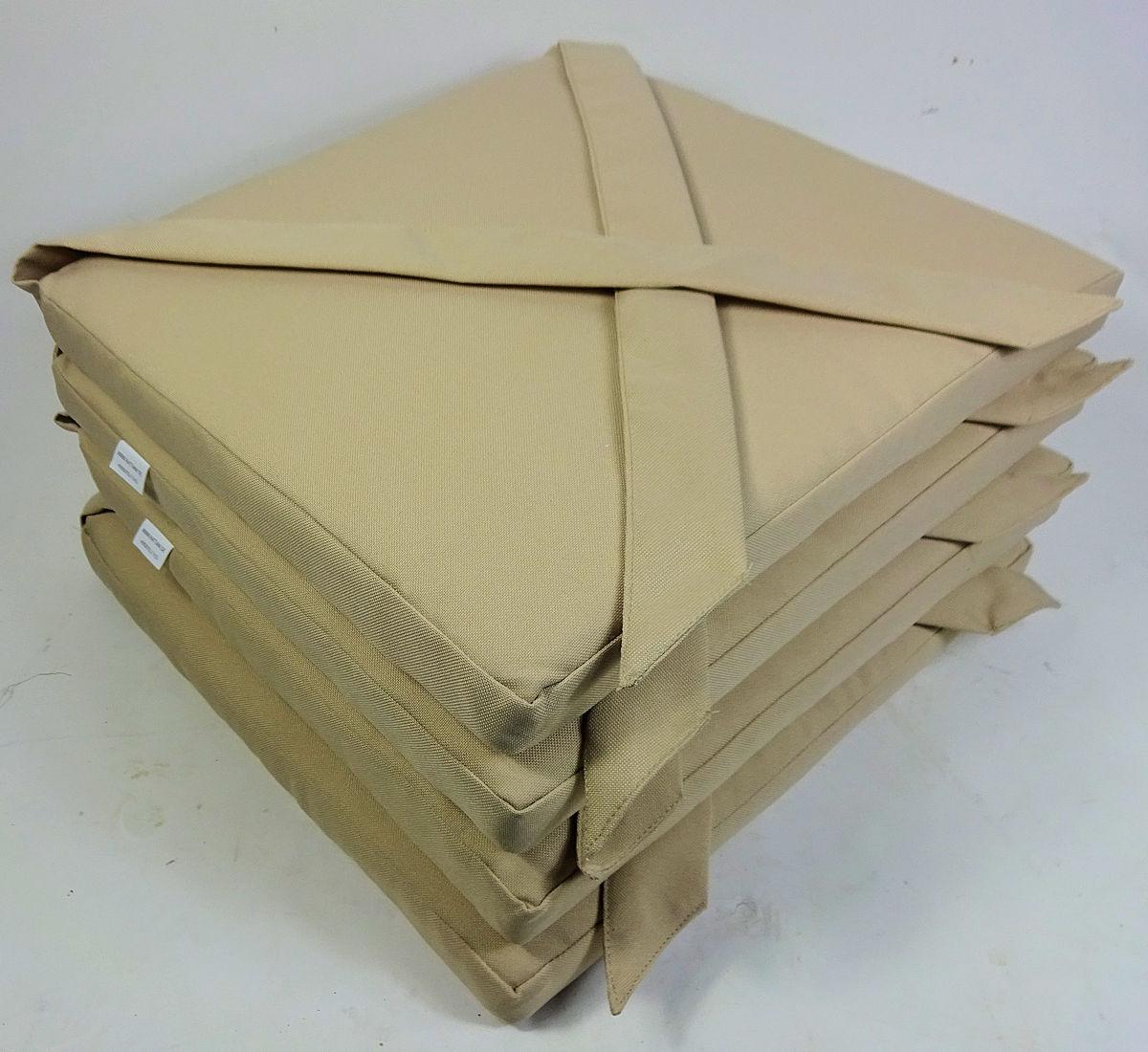 Stuhlkissen 40 x 40 x 5 cm Sitzkissen mit Schleife