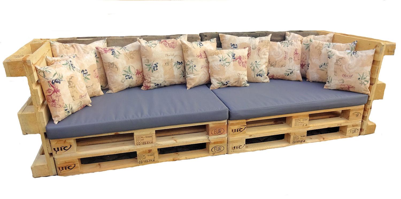 polster f r palettensofa palettenpolster palettenkissen europalette set 2. Black Bedroom Furniture Sets. Home Design Ideas