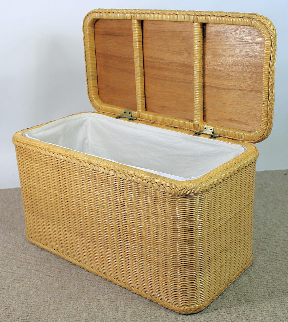 rattan w schetruhe w schekorb 81x41x47 cm fb honig. Black Bedroom Furniture Sets. Home Design Ideas