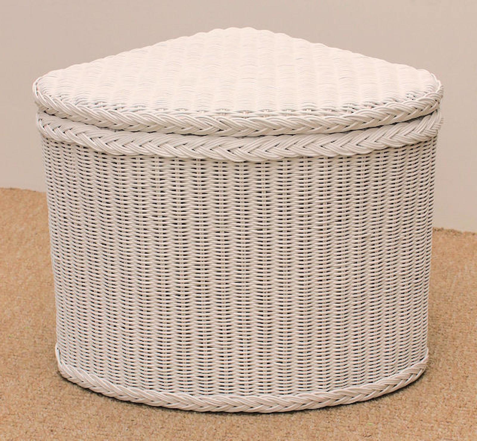 rattan w schekorb w schetruhe ecke wei lackiert. Black Bedroom Furniture Sets. Home Design Ideas
